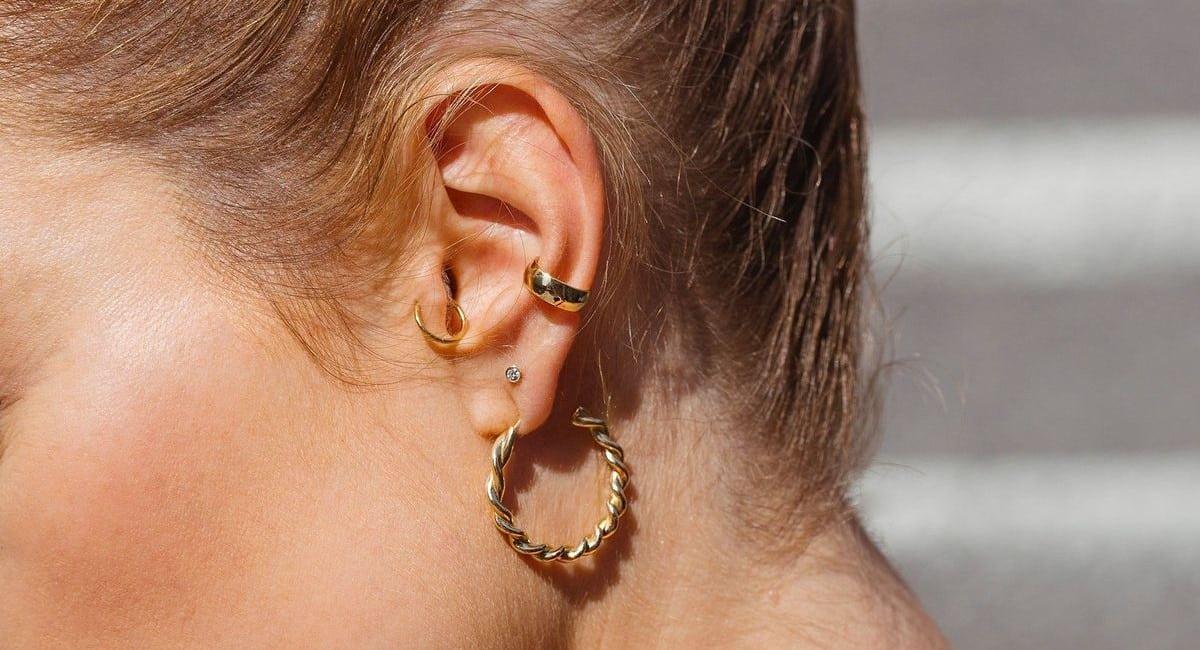 Gold Earrings for Fall