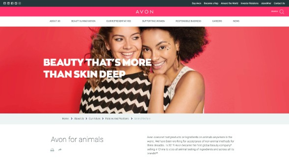 Avon Products Animal Testing Policy