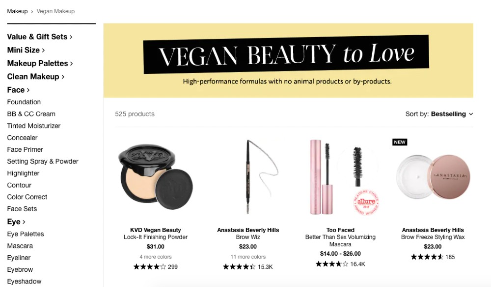 Vegan Brands At Sephora Updated For