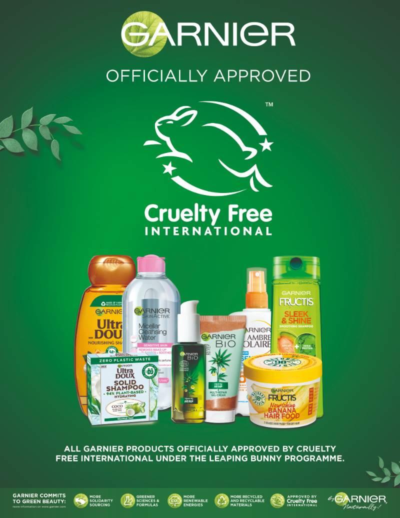 Garnier Certified Cruelty-Free by Cruelty-Free International